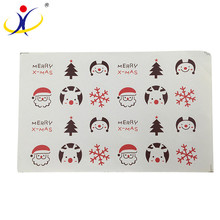 Hot selling cheap custom transparent christmas sticker paper