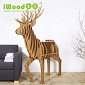 Wooden DIY Elk Display Bookrack in High Quality