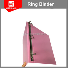 Perfect A4 A5 PU leather 3 metal clip ring binder for wholesale
