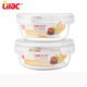 Wholesale giant serving food grade Round shape Food Container microwave pyrex bowl with glass lid