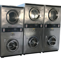 New Energy saving10+10 coin washing machine , coin operated Double Stack washer and dryer