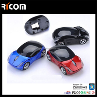 cool car shape 2.4Ghz wireless optical mouse laptop accessory mouse