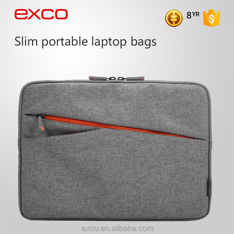 EXCO polyester lining blending nylon slim soft shell waterproof 13.3 inch laptop sleeve