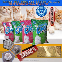 best import quality export to USA THAILAND bulk dust free bentonite cat litter for pets clean