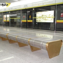 3mm thick drawn stainless steel airport waiting area chair with powder coated finish