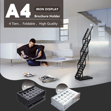 Wholesale 4 Tier magazine display racks/ Foldable magazine holder