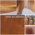 Faraday cage shielding red copper wire mesh