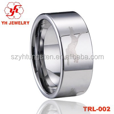 Professional 8MM 12 Zodiac Dog ring Mens Tungsten Rings,Wedding Ring