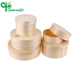 Hot sale disposable wooden food pine cake box