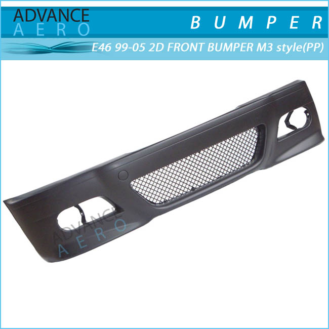 FOR 1998-2001 BMW E46 3-SERIES COUPE M3 STYLE PP POLYPROPYLENE FRONT BUMPER