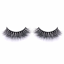 Handmade real mink fur 3d false eyelashes invisible band