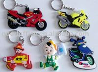 Factory manufacture 100% non-toxic motorcycle key ring