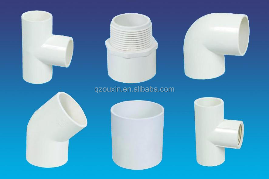 thailand plastic pvc pipe fitting/schedule 40 pvc pipe fittings with factory price for sale