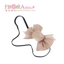Wholesale baby ribbon bow thin elastic flower crown headband