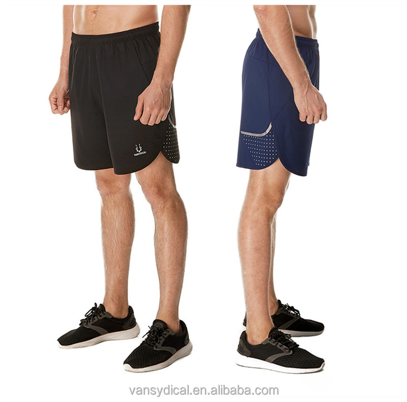 GYM Shorts 100% Polyester Sports Bottoms, Mens Fitness Shorts