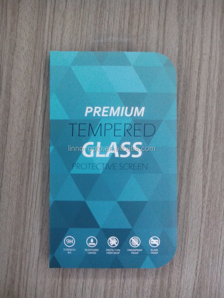 Professional design team paper and clear pvc blister packaging box phone cover for tempered glass protector screen