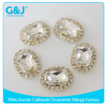 guojie brand Oval Shape for Garments Accessories synthetic rough Fake diamonds rhinestone
