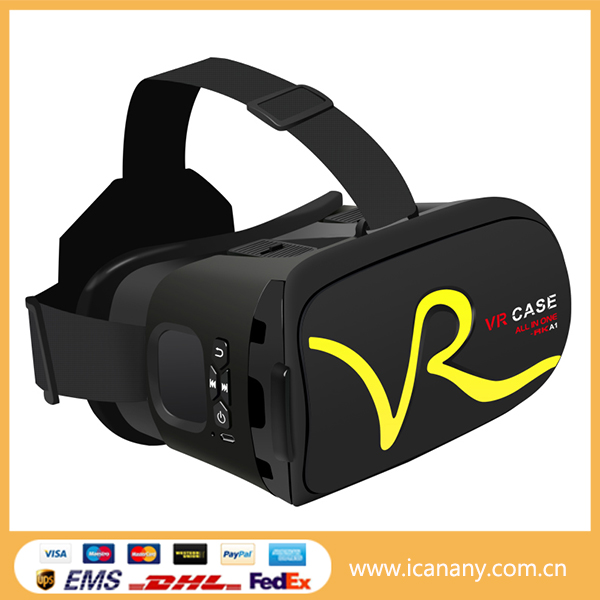 Christmas sales OEM VR BOX 2.0 upgraded vr headset 3d vr glasses with touchpad control all in one RK-A1