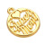 Wholesale silver and gold plating super mom circle charms female jewelry