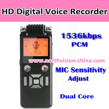 1536kbps music recorder with MP3 play function and dual microphone