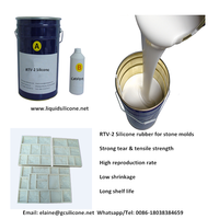 price of liquid RTV-2 silicone rubber to make artificial stone molds