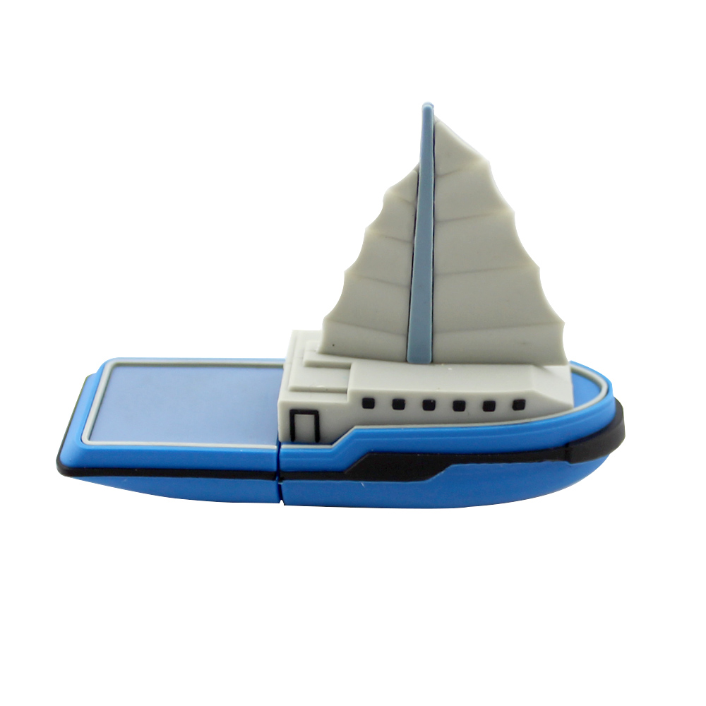 Sailing Boat Shape Creative Toy Gift 2Gb Usb Pen Flash Drive Silicone Gel Cartoon Ship Memory Stick 4Gb 16Gb 32Gb 64Gb Pendrive