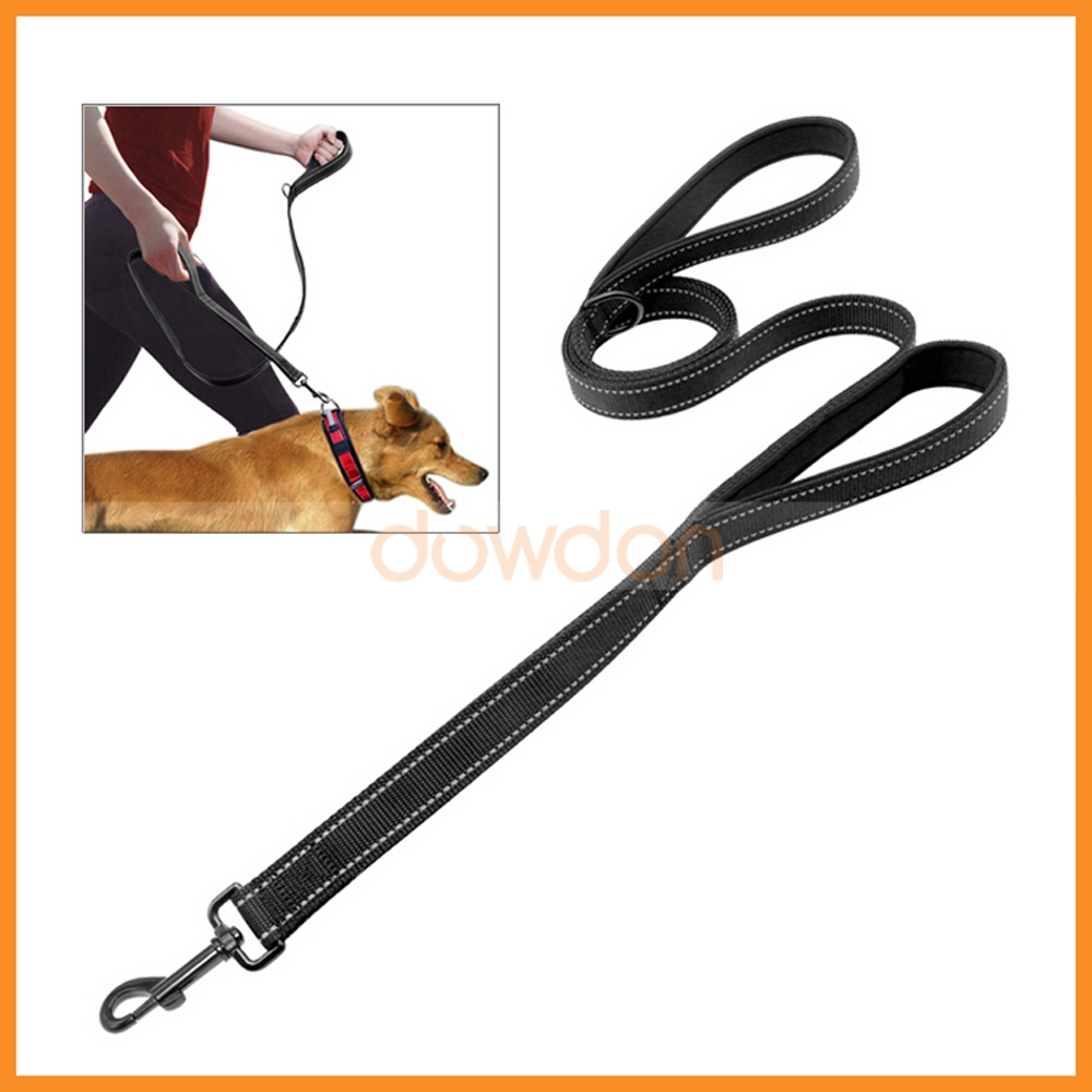 Personalized No Pull Padded Double Traffic Handle Dog Leash for Large Dogs