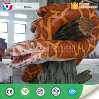 Animal park animatronic snake sculpture