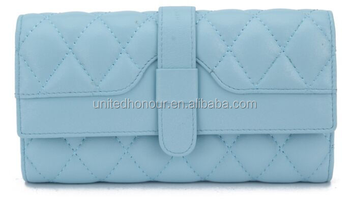 Luxurious fashion trends embroidered pu leather wallets and purses for woman