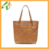 popular camel color PU leather handbag italy