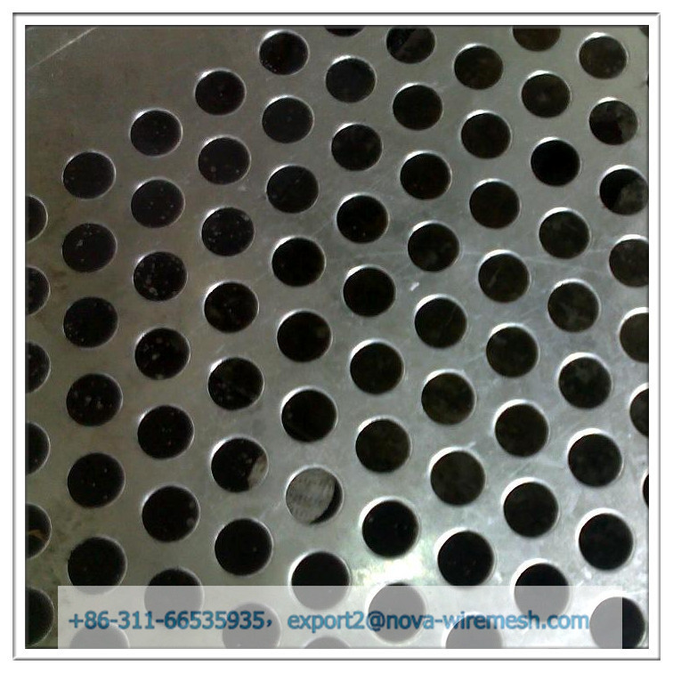 Stainless steel metal sheet / perforated round hole mesh