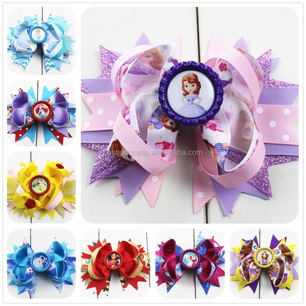 Factory wholesale hair bows, boutique hair bows, hair bow