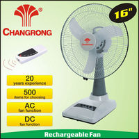 Electric rechargeable table led fan & remote control