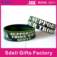 Promotional gift mixed colors camo exercise wholesale silicone bracelets
