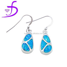 2015 100% opal silver jewelry ship earring in fish hook