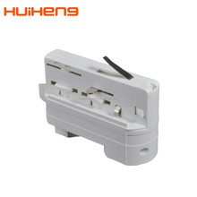 TUV CE Hot Selling Plastic 4 wire 3 wire 2 wire 3 phase led cob Accessories Track Light Adapter