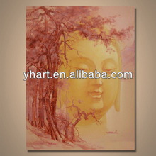 Handmade Modern art buddha face oil painting