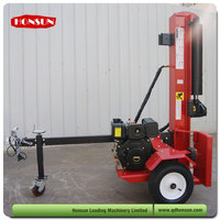Hot selling 100L 3 position with auto-return control valve super garden tool wood splitter with diesel engine 50T