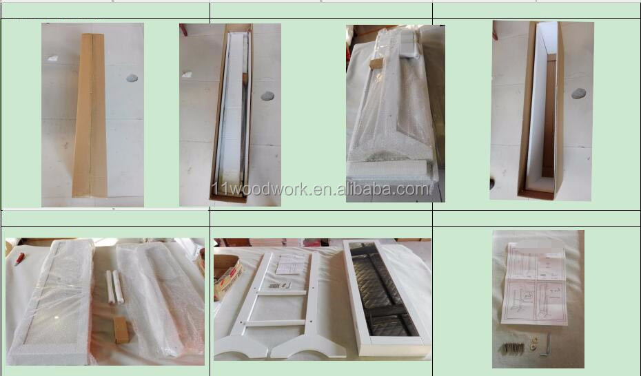 Vloerstaande houten spiegel sieraden kabinet voor sieraden opslag