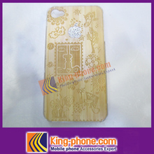 OEM/ODM accepted 2015 new product wood Bamboo Case for iPhone4,headphone wood case