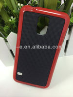 Factory price 3D Sublimation case ,Reb/Black 3D Sublimation Cuboidal checker TPU Bumper Case for Samsung Galaxy S5 I9600