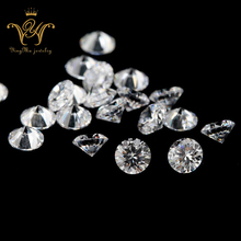 Artificial CZ Stone Round White Synthetic Cubic Zircon Loose Gemstone