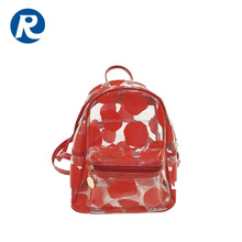 Ruiding Promotional Products Mini Ladies Customized Colorful Clear Pvc Cosmetic Backpack Bag