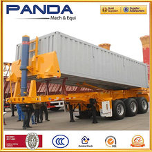 Pandamech 2016 Top Ranking 20-40ft Container End Dump Truck Semi Trailer with Hydraulic Jack