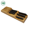 Drawer Knife Block, 100% Organic Bamboo Knife Block, Holder, Storage Organizer