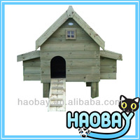 High Quality Fir Wooden Chicken Breeding Coop Cage, dog lovely house