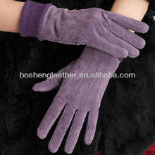 2017 soft multcolor pig suede skin for gloves leather