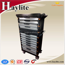 China jockey wheel metal tool box with drawers for wholesale