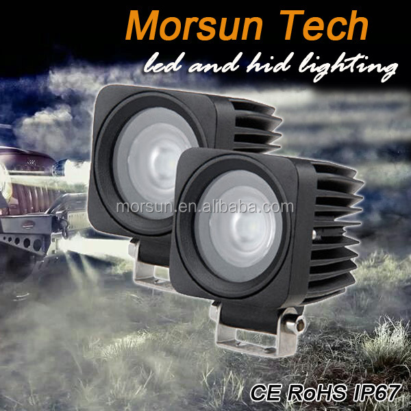 "2"" 10W spot led safety signal light,motorcycle light pod led light"