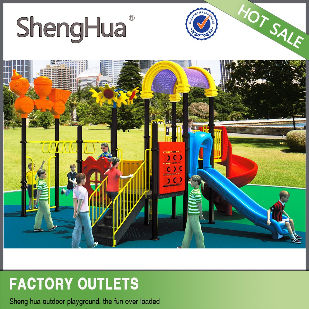 Hot-Sale Outdoor Kids Plastic Playground for preschool play center